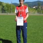 Alexander Blum nach erfolgreichem Wettkampf in Zell